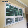 easy opening aluminium louvre window with operable lock for civil use
