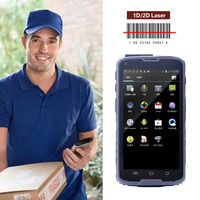 5 inch courier android pda with 1D/2D barcode reader, NFC, gps ,wifi, 4G