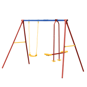 Premium Quality Level Cheap Baby With Seats Metal Double Swing With Glider
