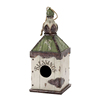 Vintage style resin birdhouse for garden