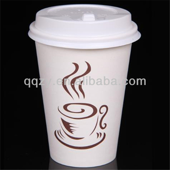 12oz Custom Design Hot Coffee Paper Cup With Lid
