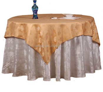 Polyester Tablecloth Overlay Underlay Home Textile Wedding Table