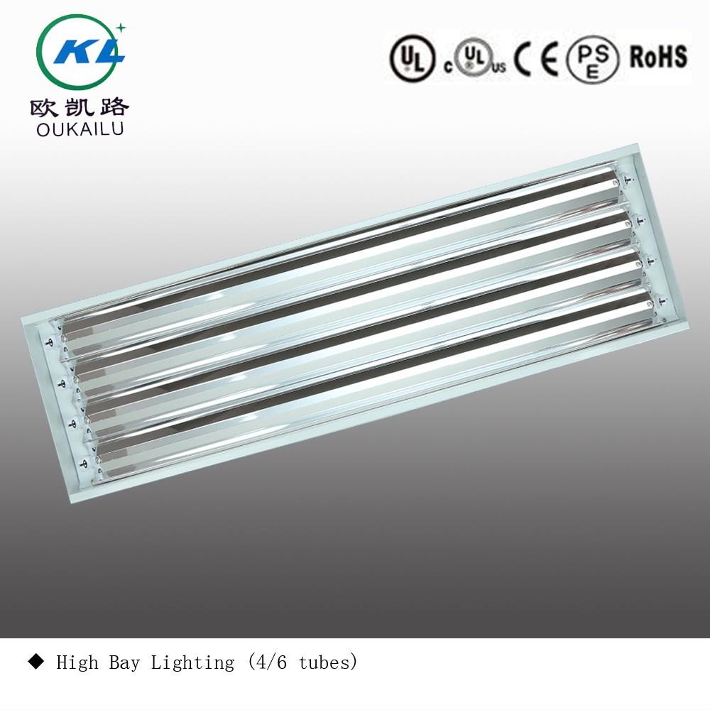 4' Fluorescent Luminaire Led High Bay Lighting Fixture (4 Tubes ...