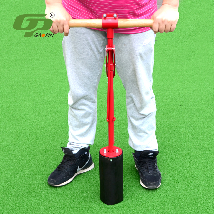 Round grass handoperated golf hole cutter