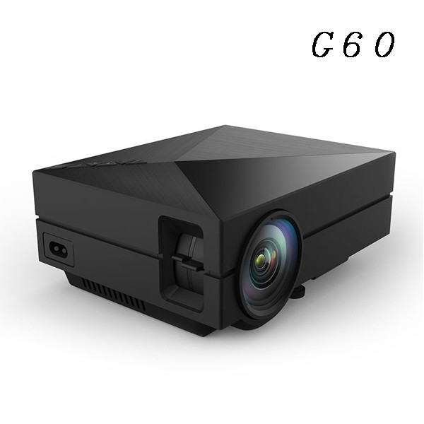 1Chip full hd Multichip Coated Lens G60 battery powered mini 4k projector