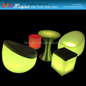Indoor furniture PE color change led lighting armchair led hotel sofa