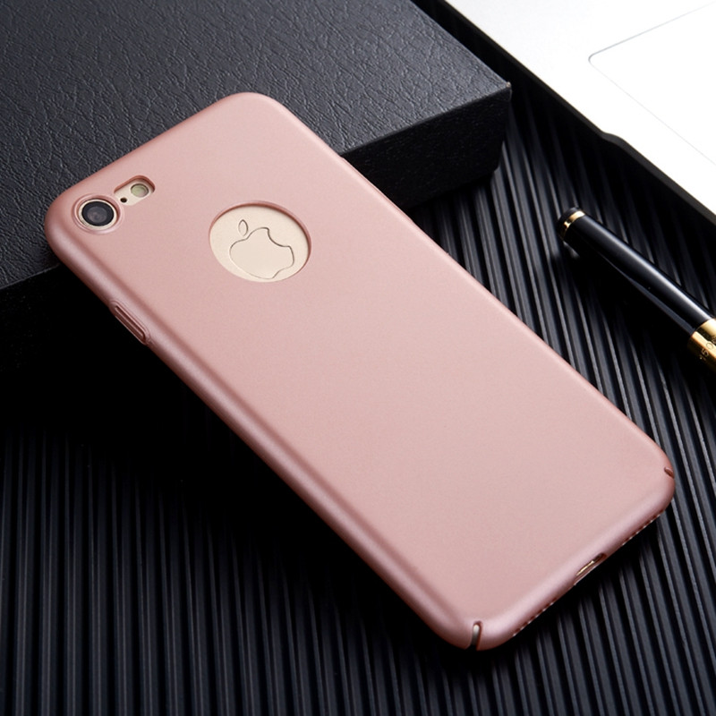 free ship for iphone 7 Case Armor Ultra Thin Hard Full Cover Slim i phone7 Phone Case for apple iphone 7 plus Logo Hole
