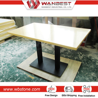 Simple designs 4 seats modern dinning table