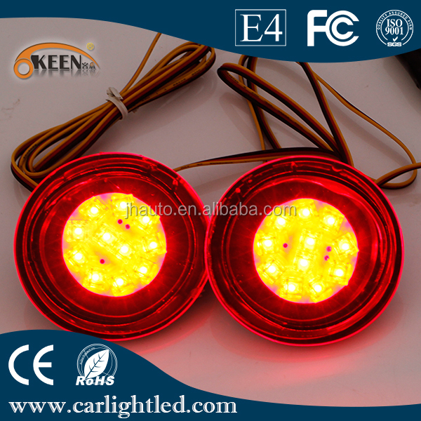Automobiles Round Led Tail Parking Warning Lights For Qashqai Led ...