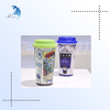 Colorful Plastic water mug cartoon design promotion double wall acrylic cup