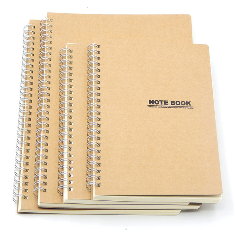 Cheap Customized Kraft paper cover Spiral notebook