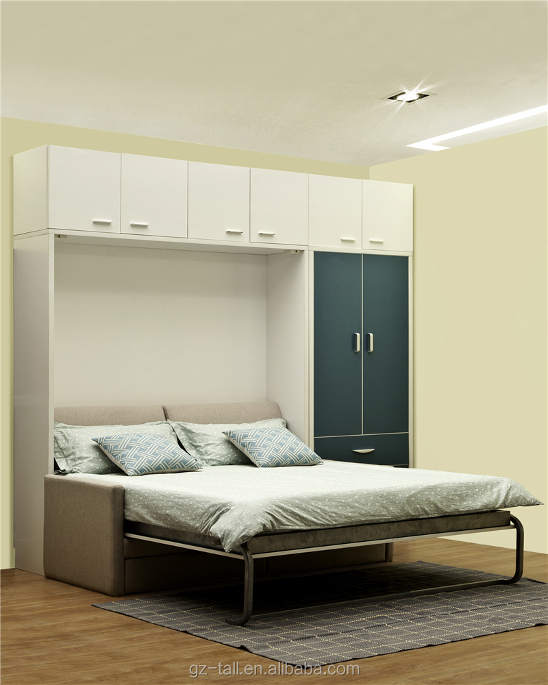 Bedroom furniture Murphy bed Murphy wall mounted bed folding wall bed with  sofa