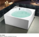 new square shape round massage whirlpool bathtub freestanding style with certificates