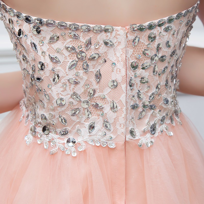 a241279cecb Gorgeous Crystals Beaded Tulle Homecoming Dresses 2016 Hot Sale Sweetheart  Backless Tea Length Prom Dresses Formal