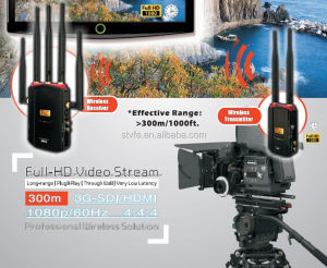 Discount ! WHDI 1080P 5Ghz wireless transmitter and receiver HD / SD SDI /3G input no latency 11 channels