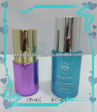 18Ml 15Ml 30Ml Round Cylindrical Cosmetic Lotion Glass Bottle With Pump Purple Blue Coated Serum Bottle Wholesale