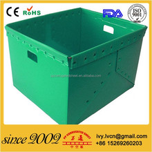 Folding pp corrugated plastic box recycled & durable