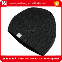 Warm acrylic adult and children custom knitted pom beanie hat for wholesale