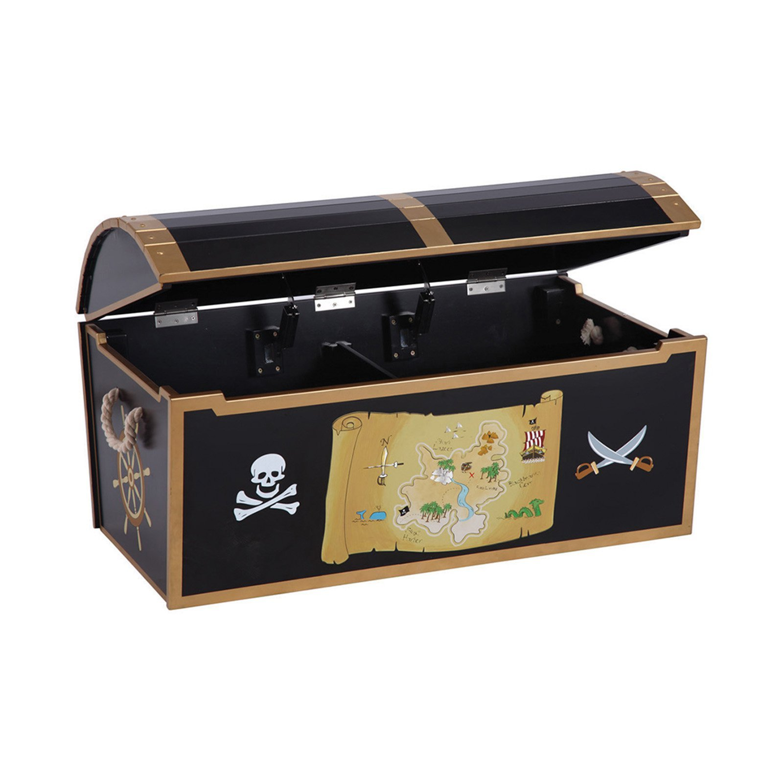 Beau Get Quotations · Most Popular Authentic Hand Painted Kids Wood Play Pirate  Treasure Toy Chest Box Storage Organizer