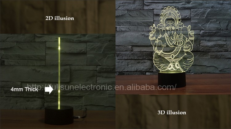 Led Projector 3d Illusion Led Lamp Decoration In Living Room Fs ...