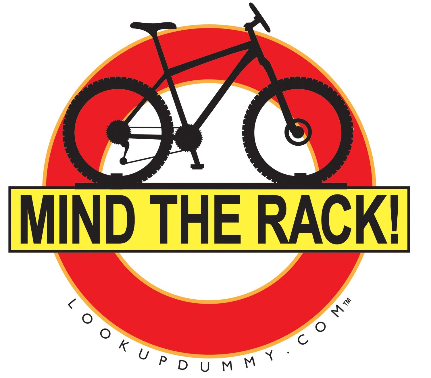 Mind The Rack - Bike Roof Rack and Bike Rear Rack Windshield Reminder and Warning System - A Non-Adhesive Removable and Reusable Vinyl Window Cling - Save Your Bike Car and Rack from Damage!
