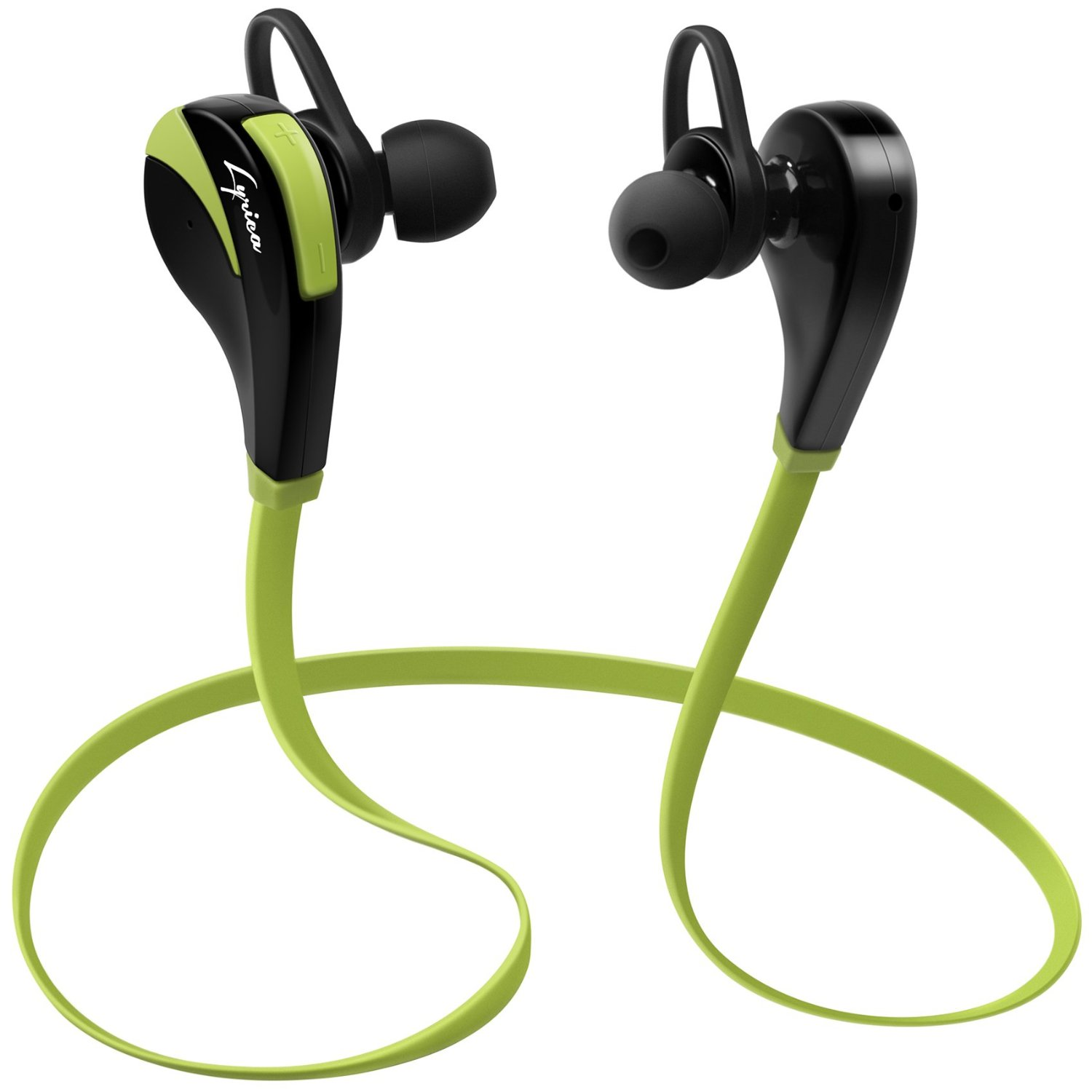Lyrica Wireless Bluetooth Headphones with Microphone Integrated - Noise Cancellation - In Ear Earbuds for iPad, iPhone, Android, Galaxy & Other Mobile Devices - Premium Sound - Perfect Earphones for Sports & Gym - Hands-free (Green)