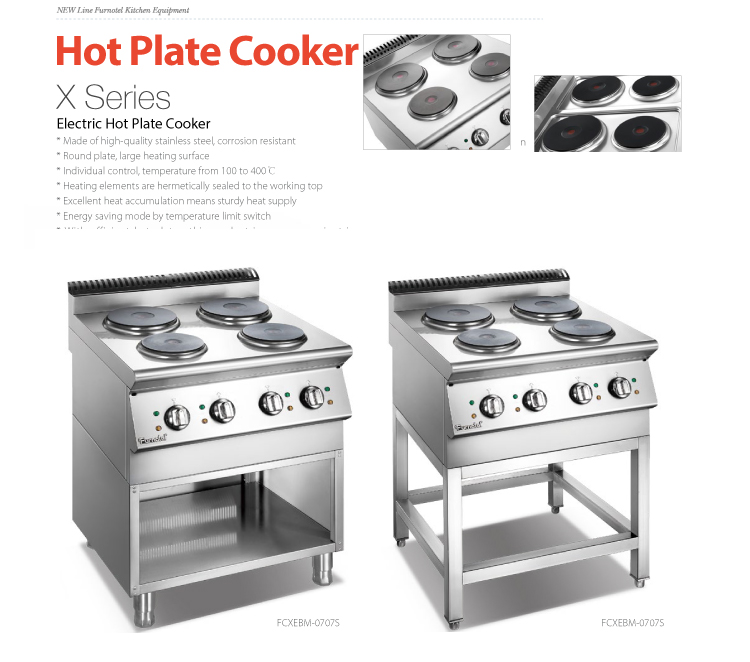 2018 New Electric Gas Cooking Range Equipment Furnotel Brands Good Prices