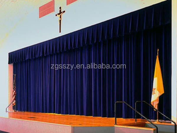 Amazing Black Or Red Automatic /Manual Church Curtains For Sales