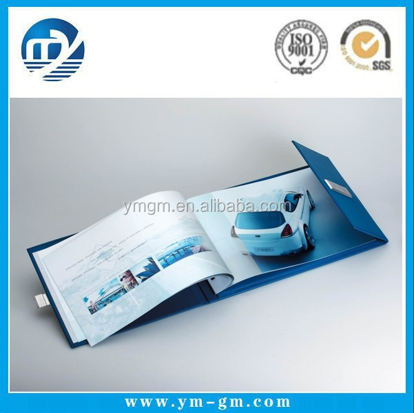 Full color folded brochure printing , cheap brochure printing for car , brochure printing service