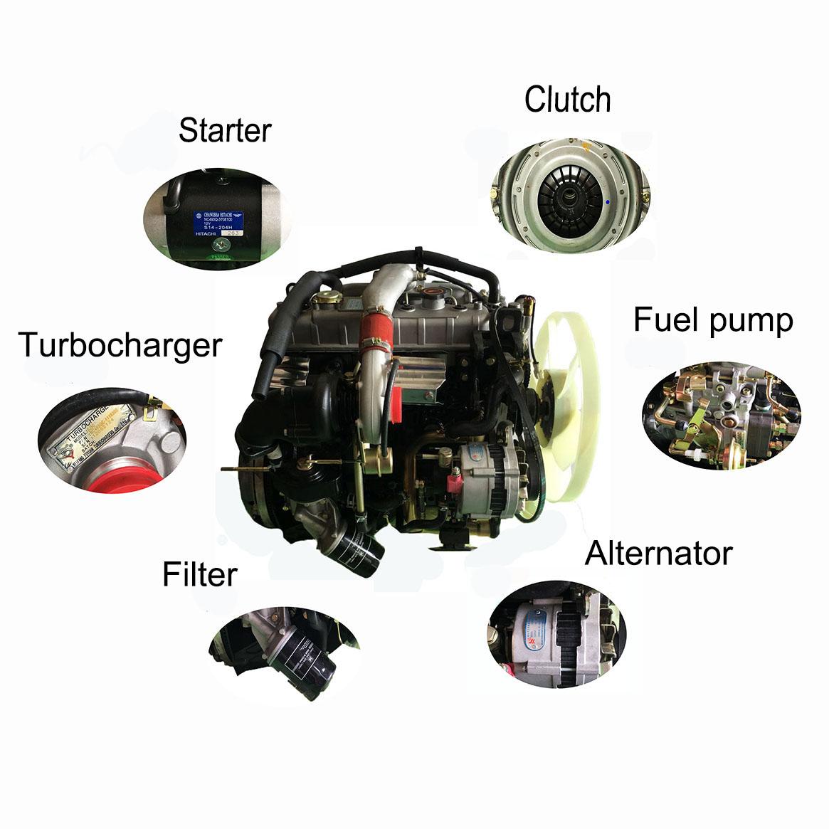 Grote korting! NPR NQR NKR 4jb1 4jb1t turbo upgrade diesel motor onderdelen voor isuzu elf Trooper 4jb1 2.8 tdi motor vergadering