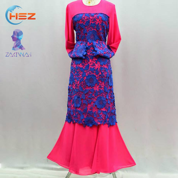 Zakiyyah A001 Hand Embroidery Designs For Lace Fish Cut Dress