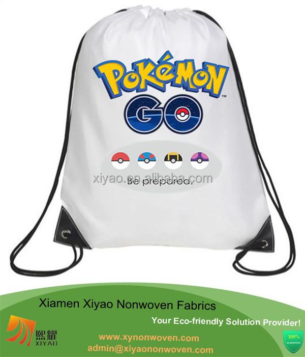 7d49a7d3ca9d Pokemon Go Personalised Drawstring Bag PE Swimming School Ballet Nursery