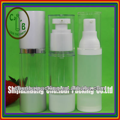 airless cosmetics lotion pump bottle aluminum pump or plastic pump both available