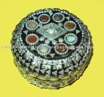 Decorative Jewellery BoxMetal Jewelry BoxBeaded Jewelry Box