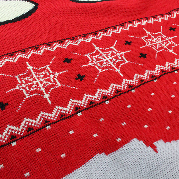 低 Moq カスタム男性クリスマス醜い赤クモプルオーバーセーター