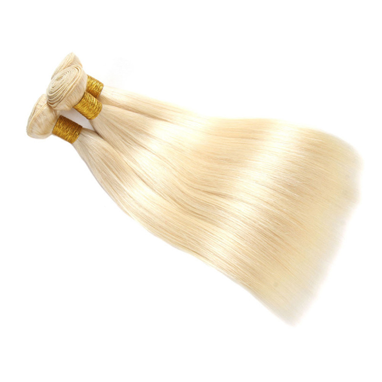 Groothandel 613 Cuticula Uitgelijnd Brazilian Hair Weave Blond Straight Virgin Human Hair Extension