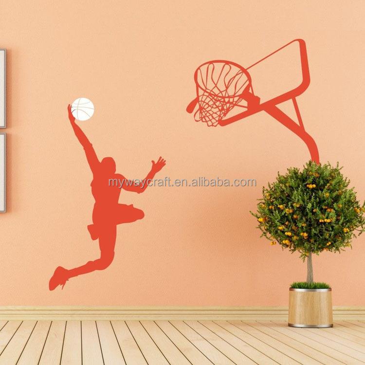 Basketball Wall Sticker Michael Jordan Slam Dunk Vinyl Sport Wall ...