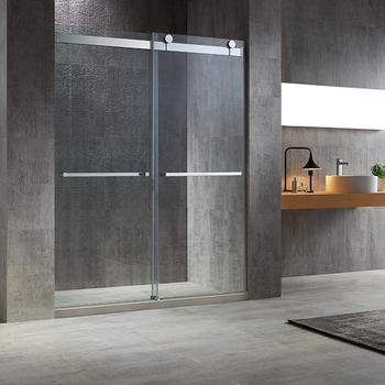 Luxus Badezimmer Design Oem Benutzerdefinierte Rahmenlose Bypass Schiebe  Glas Dusche Tür Duschwand - Buy Glas Dusche Tür,Bypass Schiebe Glas ...