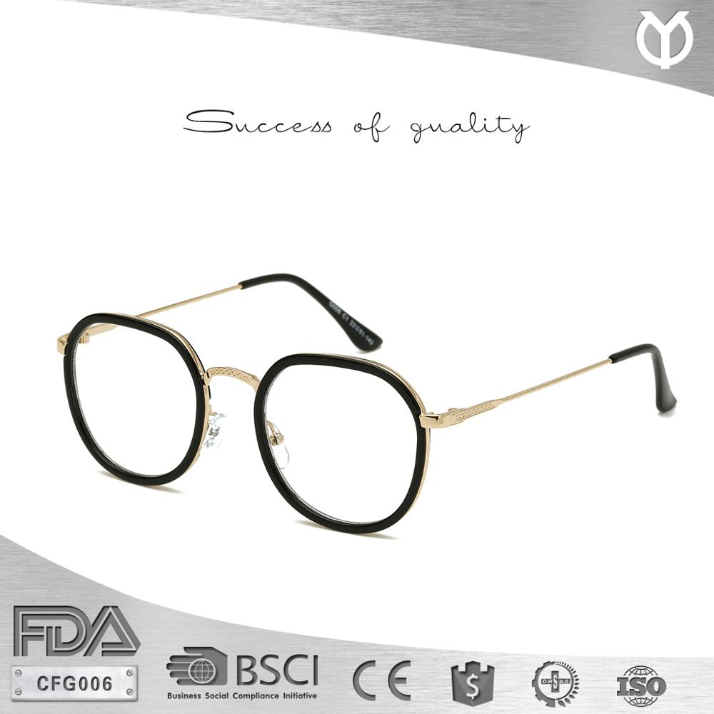 Cfg006 Fashion Gold Metal Frame Eyeglasses Vintage Glasses Clear ...