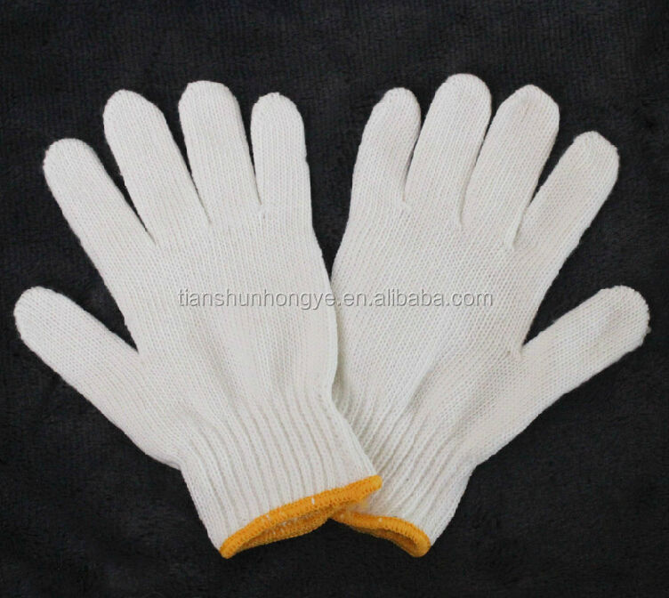 Auto mechanic glove white nylon gloves work glove