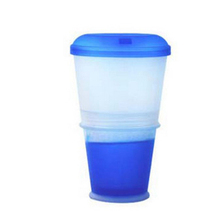 Plastic cereal on the go,  breakfast yogurt , cereal to-go container cup with spoon