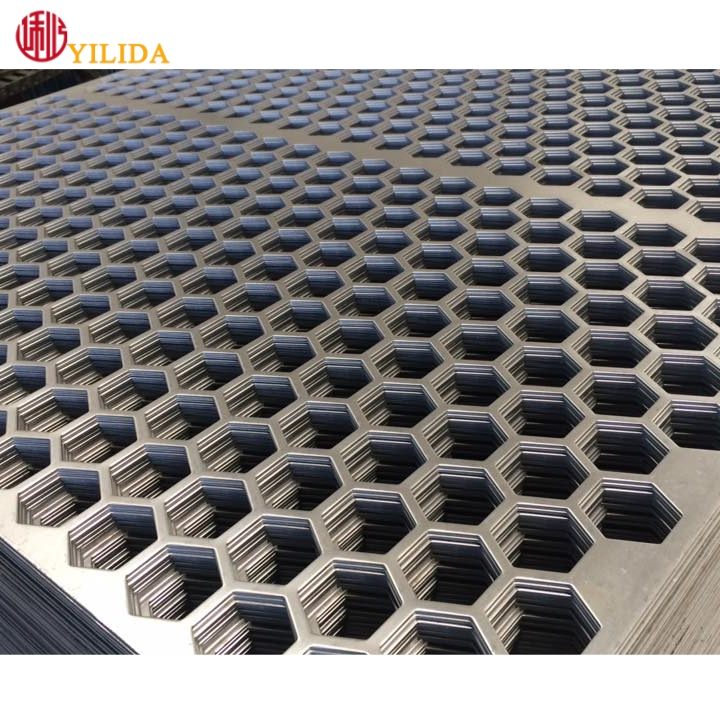 Stainless Steel 304 Punching Network Hexagonal Hole Perforated Metal Sheet Mine Screen