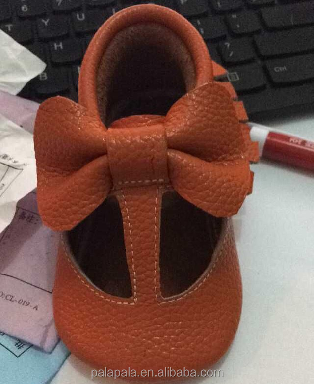 20colors genuine leather toddle baby bow shoes soft sole free sample shoes baby T-bar girl shoes