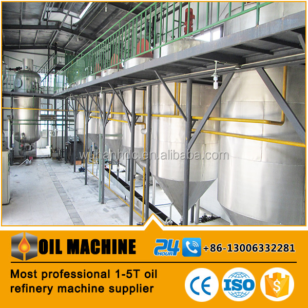 Best supplier small scale palm oil refining machinery crude oil refinery equipment