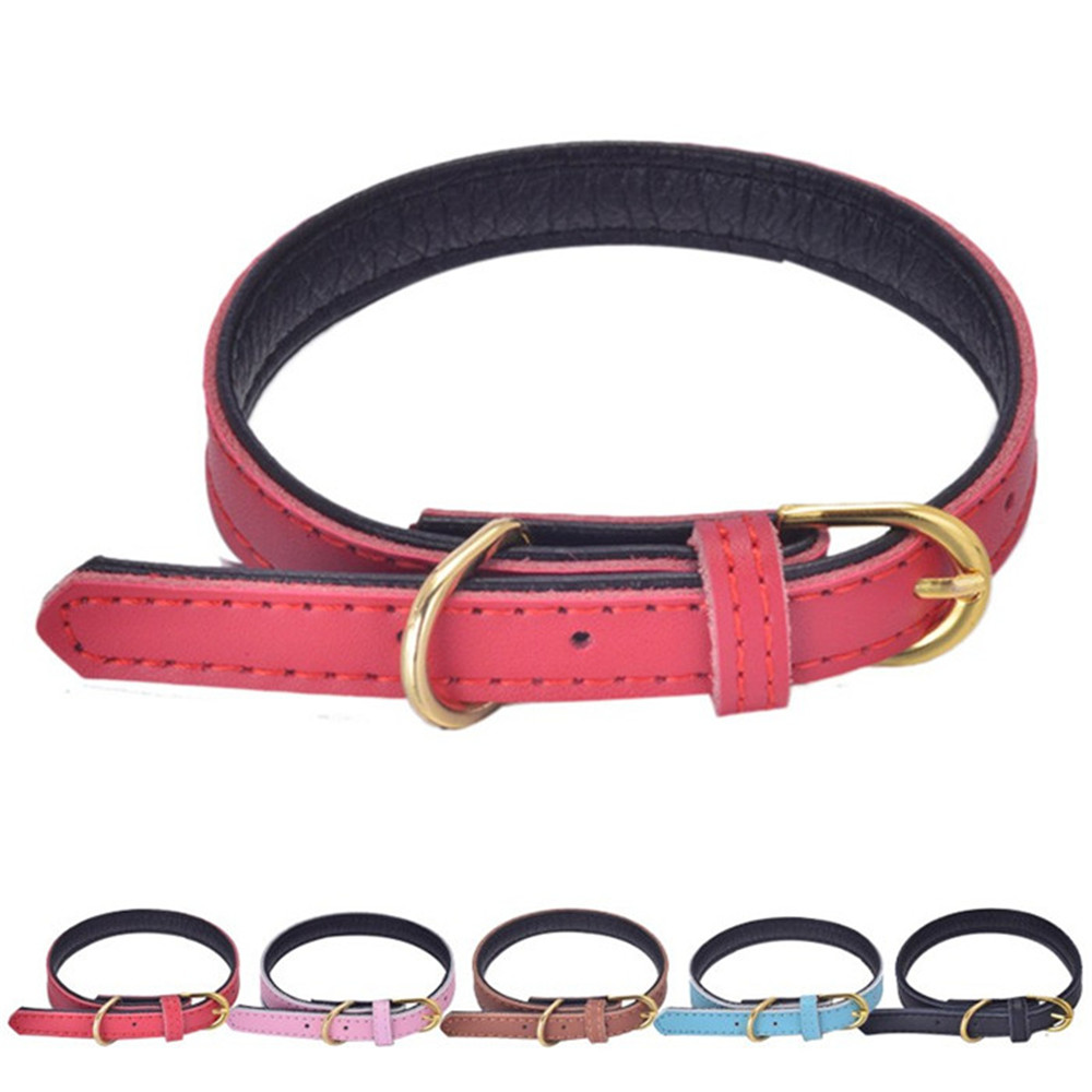 Quality Genuine Leather Cheap Puppy Plain Collars for Small <strong>Dogs</strong>