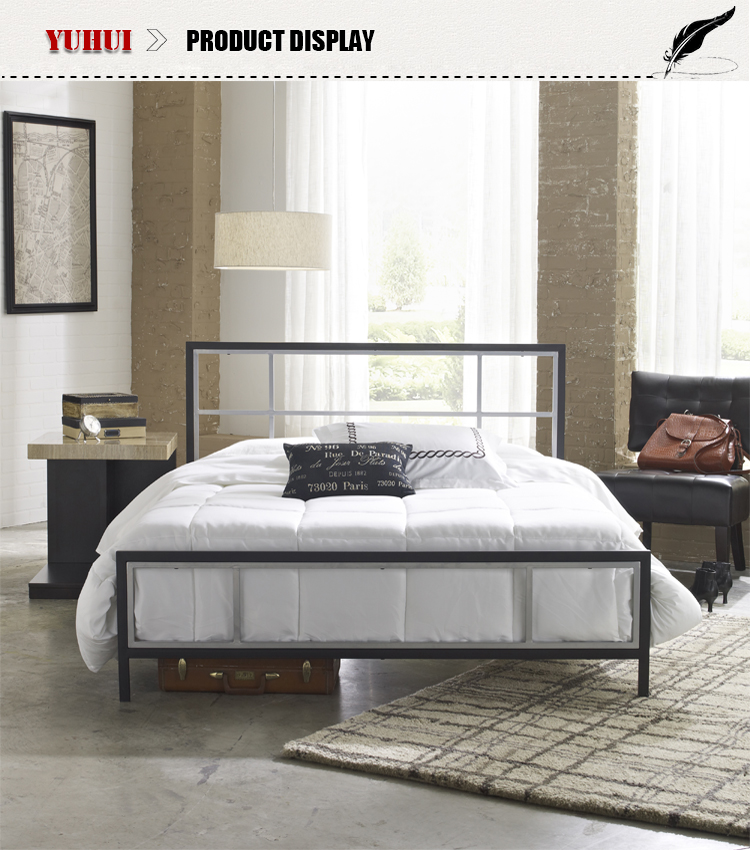 Factory production Latest Metal Bed Designs Black Metal Bed Frame Wrought  iron king bed  Factory. Iron Bed Design