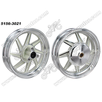 motorcycle front and rear rim 10 inch motorcycle chrome alloy wheels