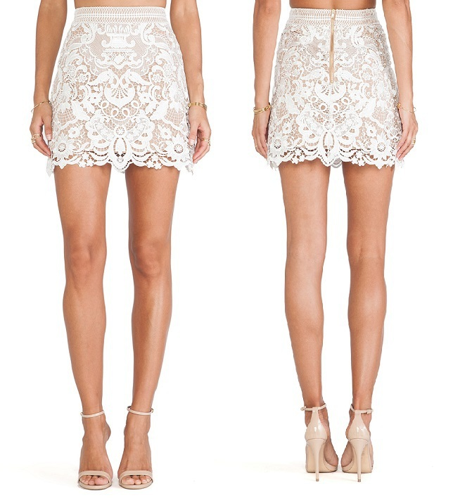 105fa327b2 Buy Hot Sell New Arrival High Quality Pencil White Lace Skirt Women Hot  Sexy Short High Waist Bodycon Solid White Lace Skirt 2015 in Cheap Price on  ...