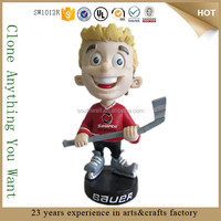OEM gift custom hockey player BOBBLE HEAD figurine