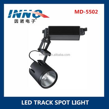 Single Spot Swivel Led Track Rail Spotlight Fixture